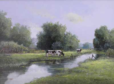 Grazing by the River by J. Van der Put