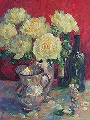 Roses & Silver by Lisa Palombo