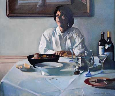 Woman at the Table by Alain Pontecorvo