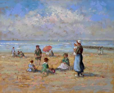 Family at the Beach II by Hendrick B. Slotman