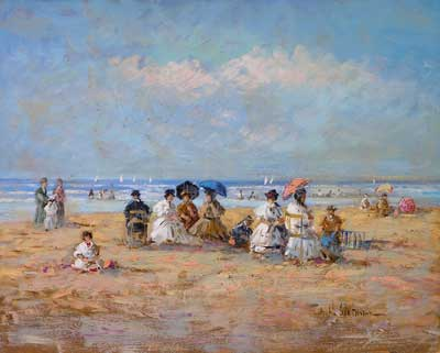 Ladies at the Beach by Hendrick B. Slotman