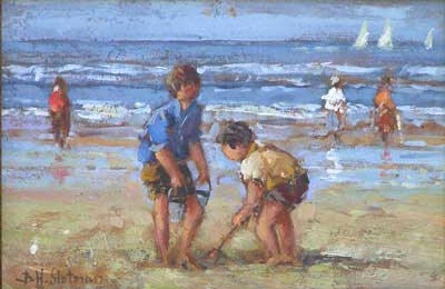 Sand Digging by Hendrick B. Slotman