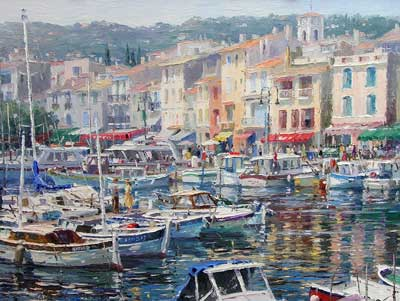 The Marina in Cassis by Barbara Jaskiewicz