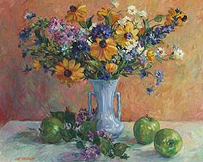 Wild Flowers & Green Apples by Lisa Palombo