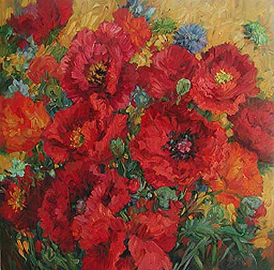 Heavenly Poppies by Lisa Palombo