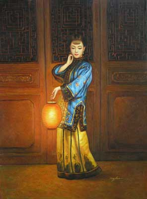 Lady with Lantern by Ming Hin