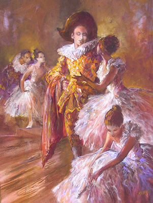 Arlequin & Ballerinas by Michel Guyon