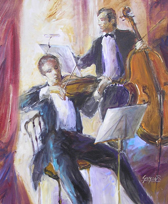 Musicienne Duo by Michel Guyon
