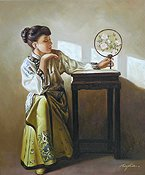 Ching Lady with Fan by Ming Hin
