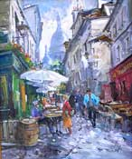 Rue Saint Rustique by Robert Ricart